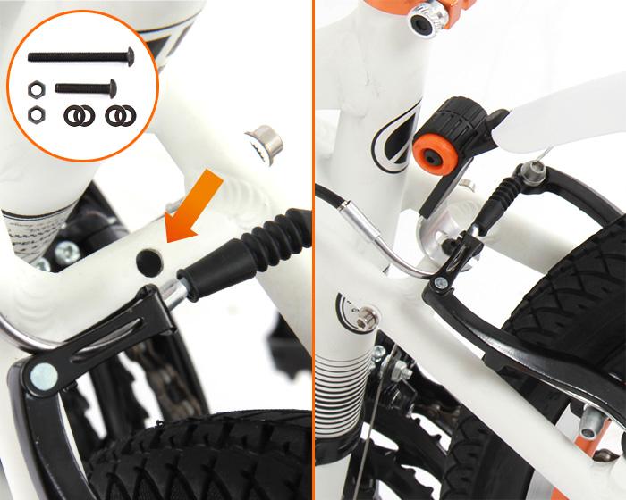 ロードバイク・クロスバイク用マッドガードセット取付け方法画像