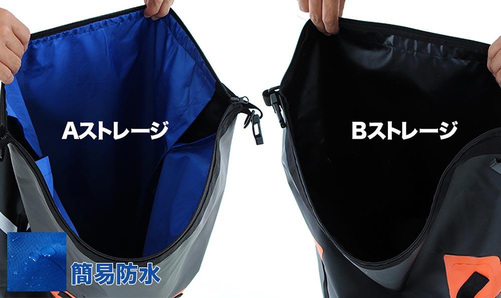 DBT217-BK デュアルストレージツーリングバッグ 主な特徴