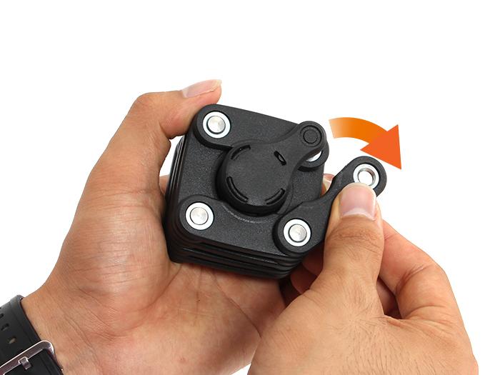 フォールディングブレードロック + ワイヤー[解錠、収納方法]画像