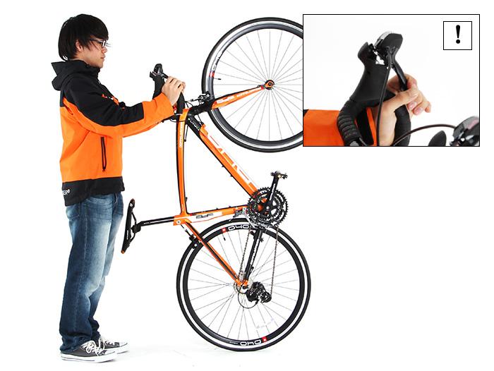 バイシクルハンガー自転車の収納方法画像