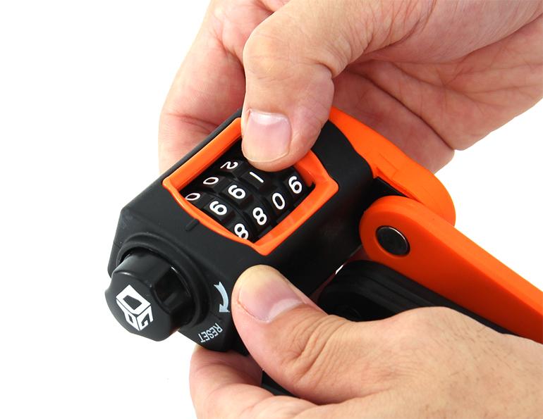 ダイヤルコンボフォールディングロック解錠番号(ダイヤル)の設定方法画像