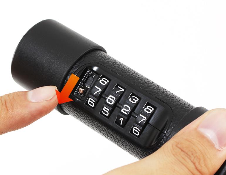 ダイヤルコンボU字ロック解錠番号(ダイヤル)の設定方法画像
