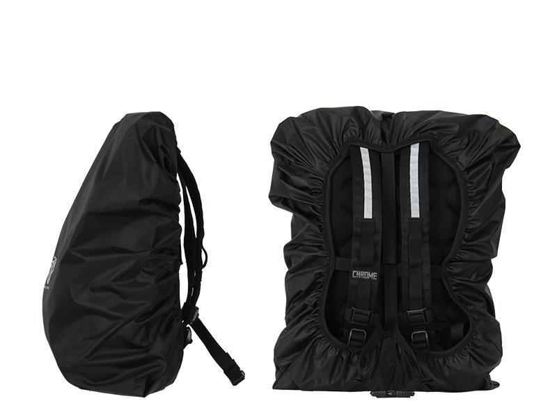 ウォータープルーフバッグカバー(35L)バックパックレインカバーシリーズの各装着イメージ画像
