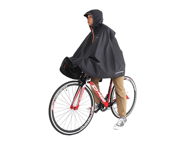 パッカブルサイクルポンチョ多様化する様々な自転車に幅広く対応。画像