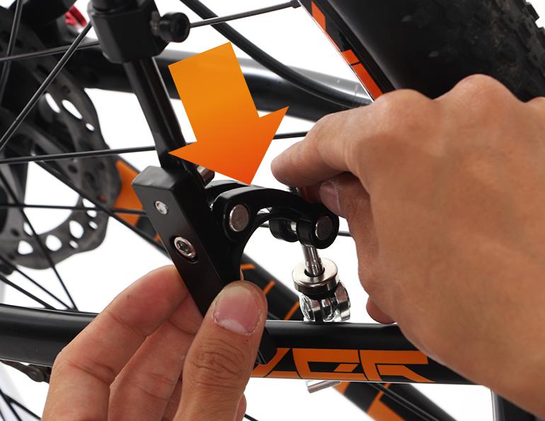 エクステンションリアキャリア自転車への取り付け方法画像