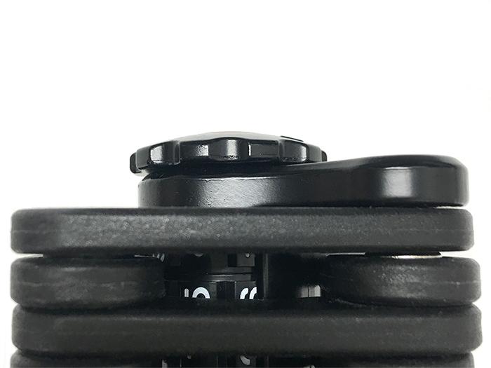 ダイヤルコンボフォールディングブレードロックノブ位置との関係画像