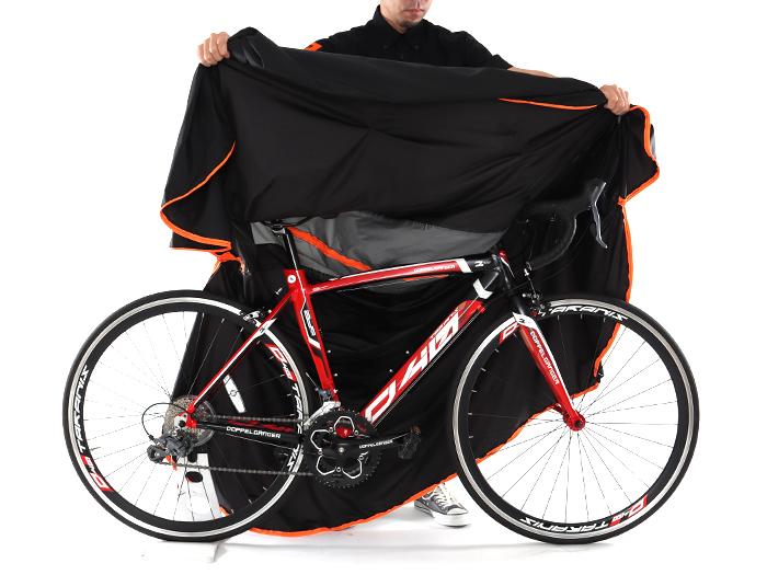 マルチユースキャリングバッグ ウルトラライト自転車全体の収納方法画像
