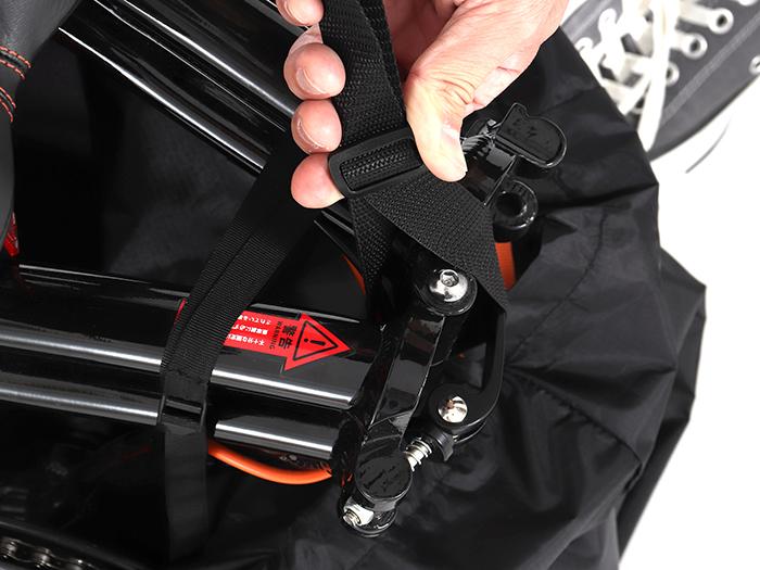 コンパクト輪行キャリングバッグ(折りたたみ小径車用)自転車の収納方法画像