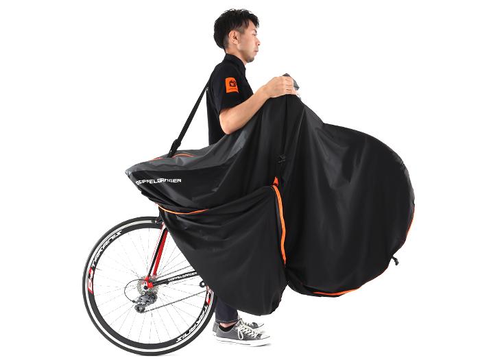 マルチユースキャリングバッグ ウルトラライト後輪を出して運搬(収納方法)画像