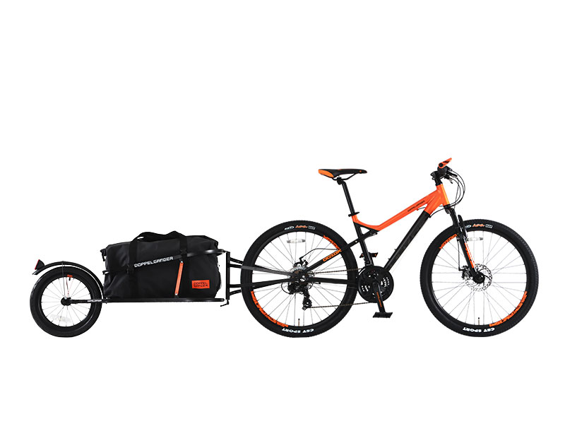 シングルホイールサイクルトレーラー自転車の車種別取り付けイメージ画像