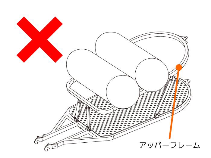 シングルホイールサイクルトレーラーご使用前に必ずご確認ください画像