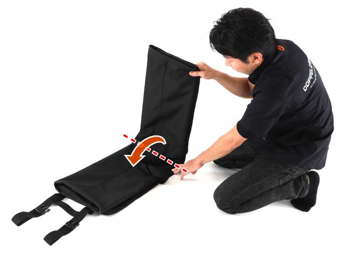 DCB430-DP 輪行キャリングバッグ(折りたたみ大径車用) 組立方法画像