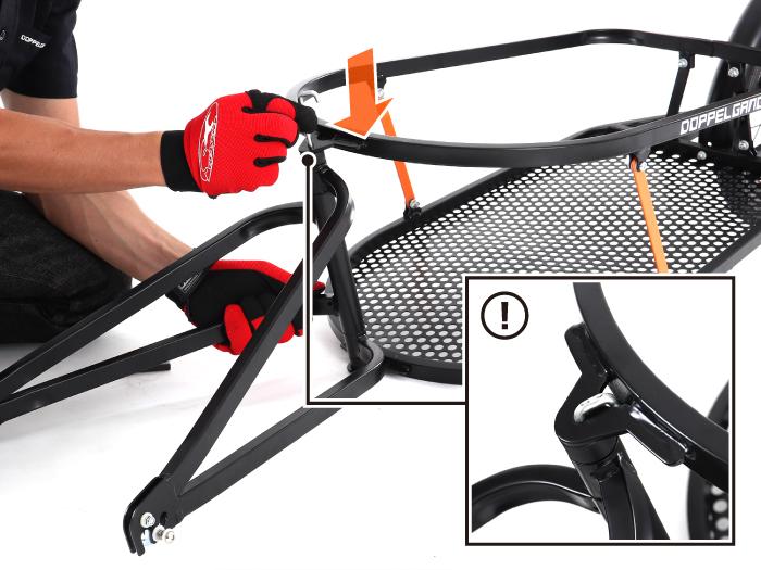 シングルホイールサイクルトレーラーサイクルトレーラー本体の組み立て方法(静止画)画像