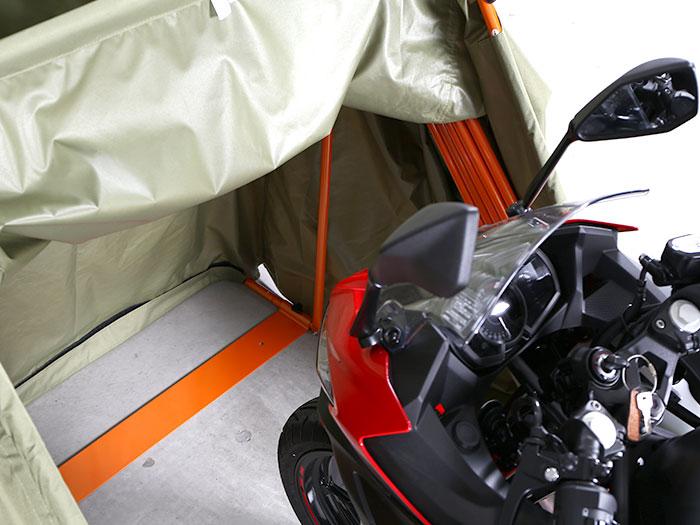 DCC374M-BK ストレージバイクシェルター2 主な特徴の補足
