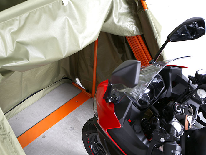 DCC374L-BK ストレージバイクシェルター2 主な特徴の補足
