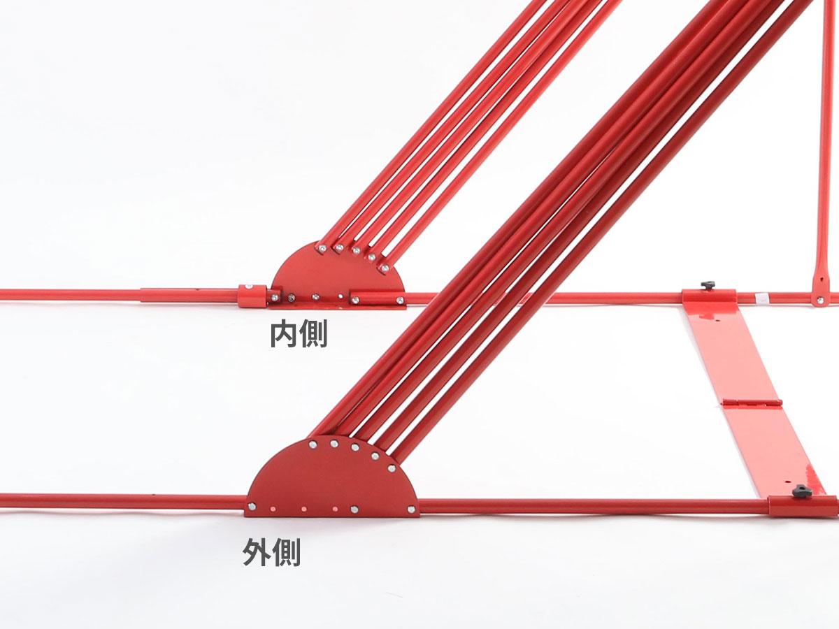 ストレージバイクシェルター2支柱台座の見分け方(画像)画像
