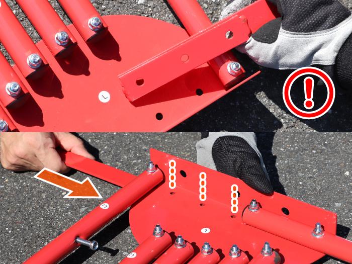 DCC374M-BK ストレージバイクシェルター2 組立方法画像