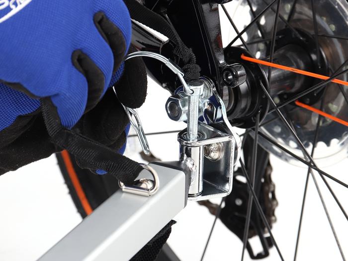 ウッディサイクルトレーラー自転車への取り付け方法画像