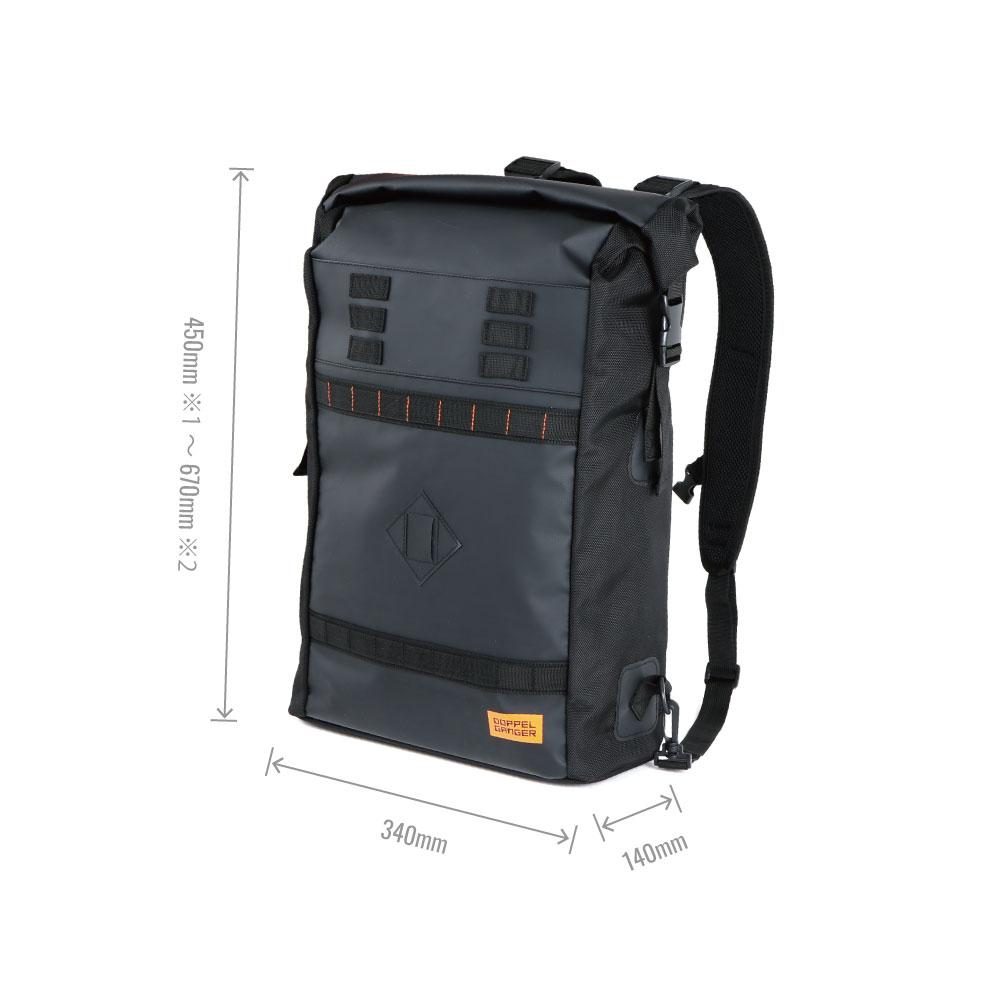 DFB407-DP 大容量フロントバッグ サイズ画像