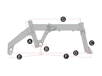 ハコベロ ハイパーライトのフレームサイズ画像