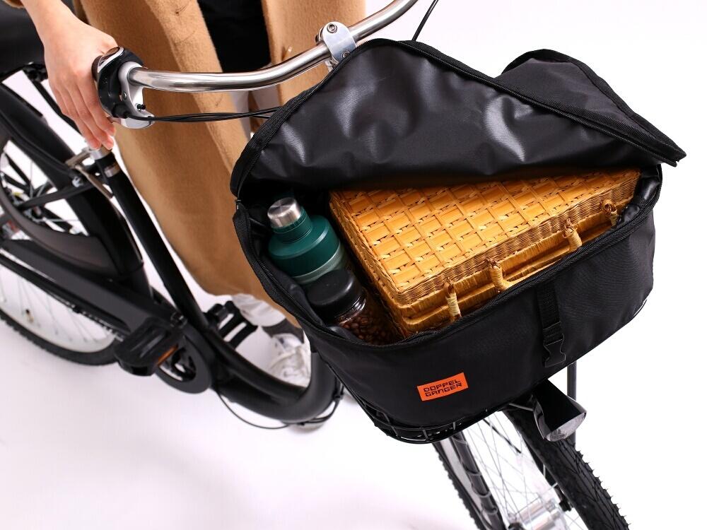 DBF457-BK フロントバスケットカバー(自転車ハーフカバー付属) 各部特徴画像