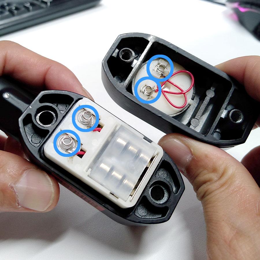 アラームde南京錠電池のセットアップ方法画像