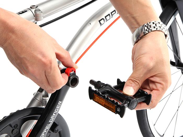 耐衝撃輪行キャリングバッグミニ(小径車用)自転車収納方法画像