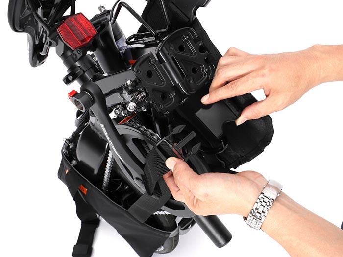 極小径車輪行リュック製品使用方法画像