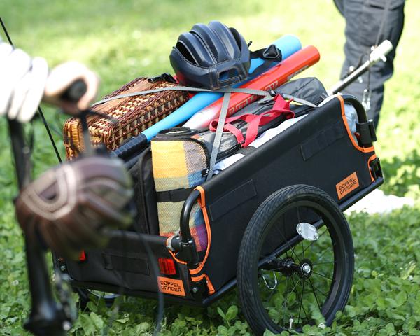 マルチユースサイクルトレーラー自転車で、運べそうで、運べない。 諦めていた「コト」が自転車で出来るように。画像