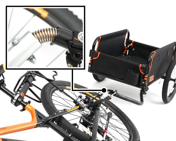 マルチユースサイクルトレーラー自転車と同じく、道路を走るものだから、 安全性にも配慮しています。画像