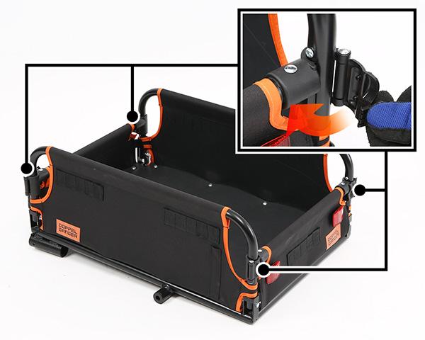 マルチユースサイクルトレーラーサイクルトレーラー本体の組み立て方法画像