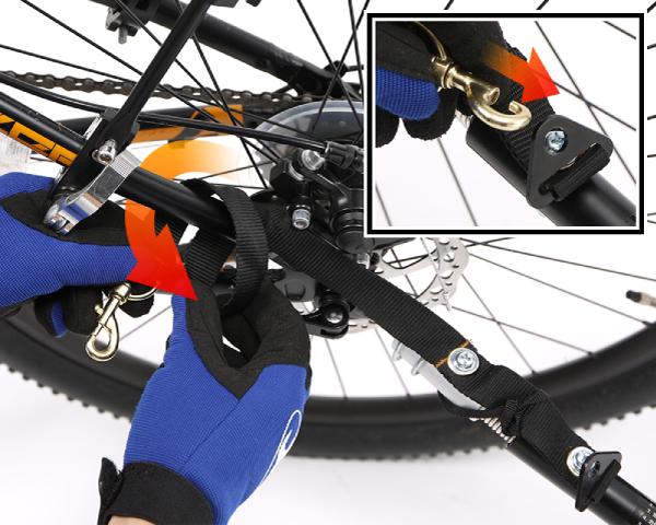 マルチユースサイクルトレーラー自転車への取付方法画像