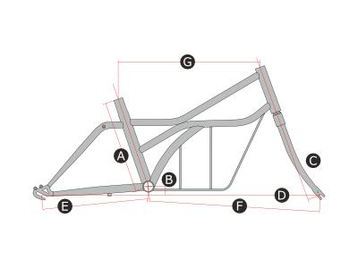 ロードヨット カーゴのフレームサイズ画像