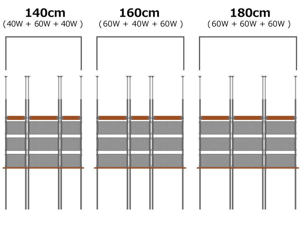 DDS521-BG ガレージウォールラック(40W) 主な特徴の補足
