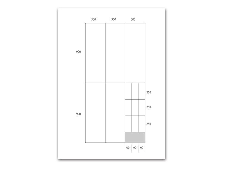 スチールラック支柱キット作成事例 その1:集成材で作る棚画像