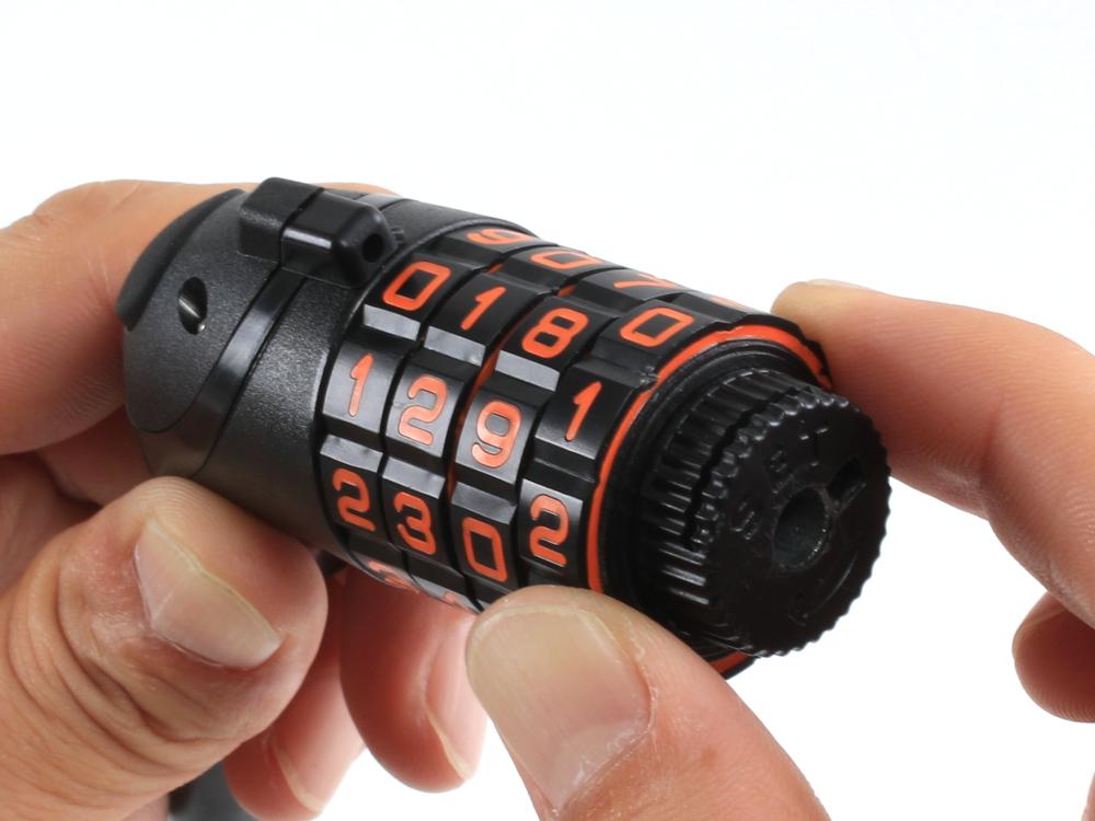 DKL498-BK ダイヤルコンボLEDワイヤーロック 各部特徴画像