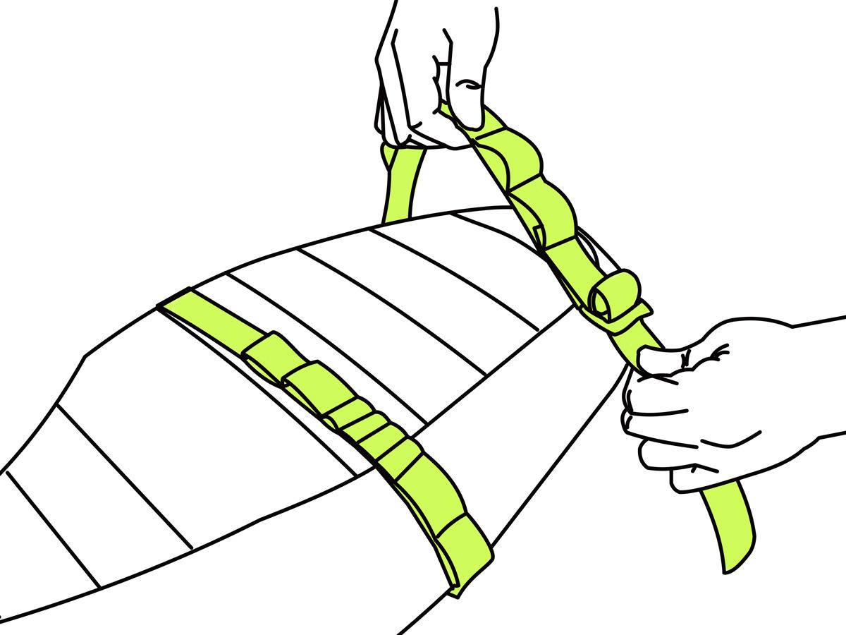 ターポリンシングルサイドメッセンジャーバッグバッグの装着方法画像