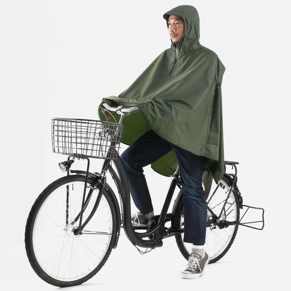 パッカブルサイクルポンチョ様々な自転車に幅広く対応。画像