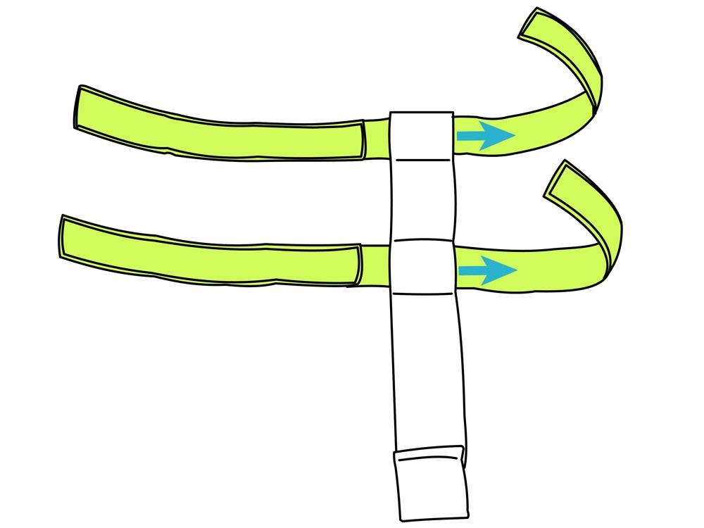 ターポリンホルスターバッグボトルホルダーの装着方法画像
