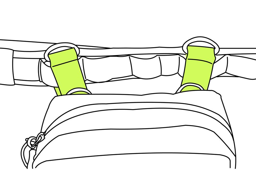 ターポリンホルスターバッグバッグ本体とタクティカルベルトの接続方法画像