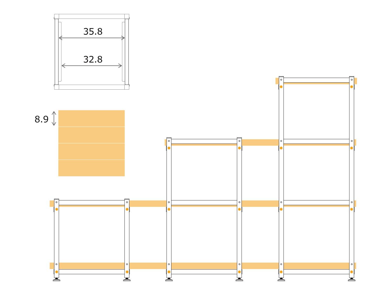 アイキュー(4段タイプ)板材の厚みに応じた使い方画像