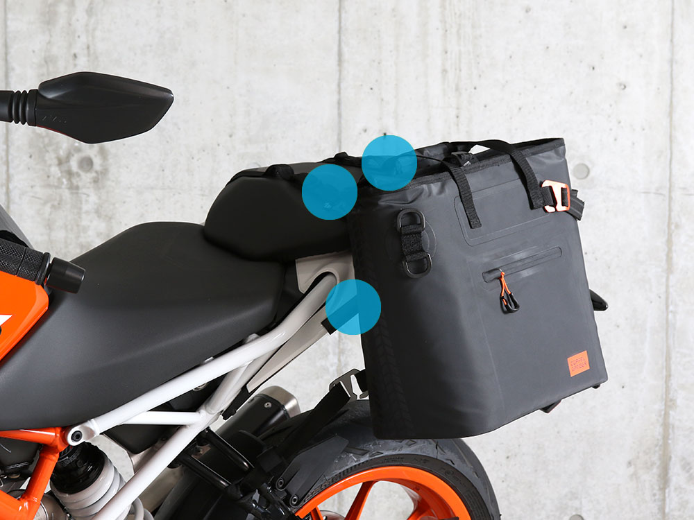 DBT510-BK ターポリンシングルサイドトートバッグ 主な特徴