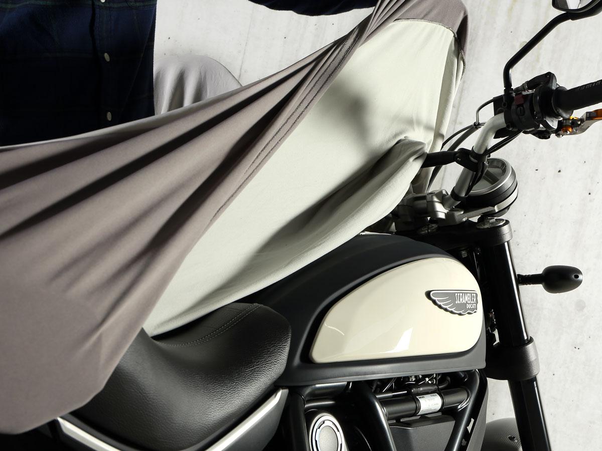 DCC533-GY ストレッチバイクカバー2 主な特徴