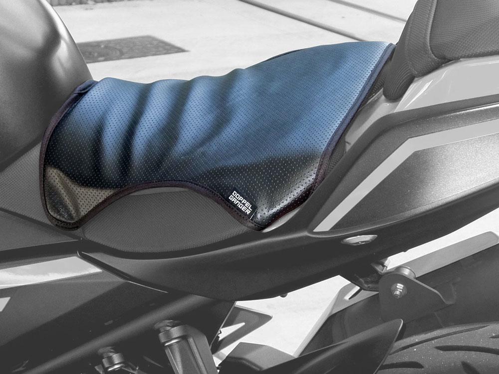 バイク用シートクッションセット クール&ゲル単体でのシートへの装着方法画像