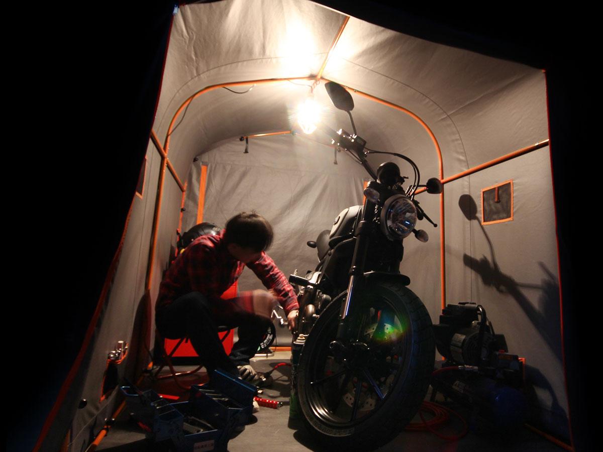 DCC539-GY バイクガレージ 2150 スリム 主な特徴