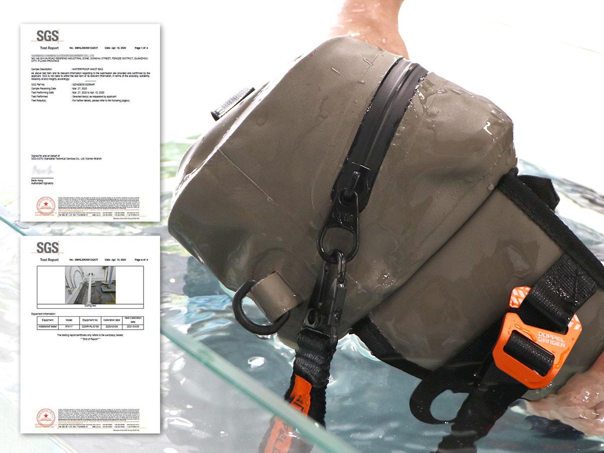 DBT600-RD ターポリンウエストバッグ 主な特徴