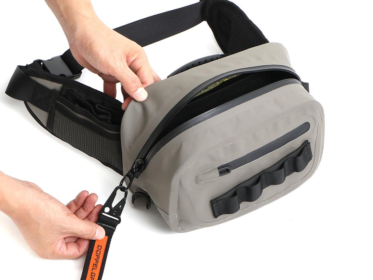 ターポリンウエストバッグ防水ファスナーのメンテナンス方法画像