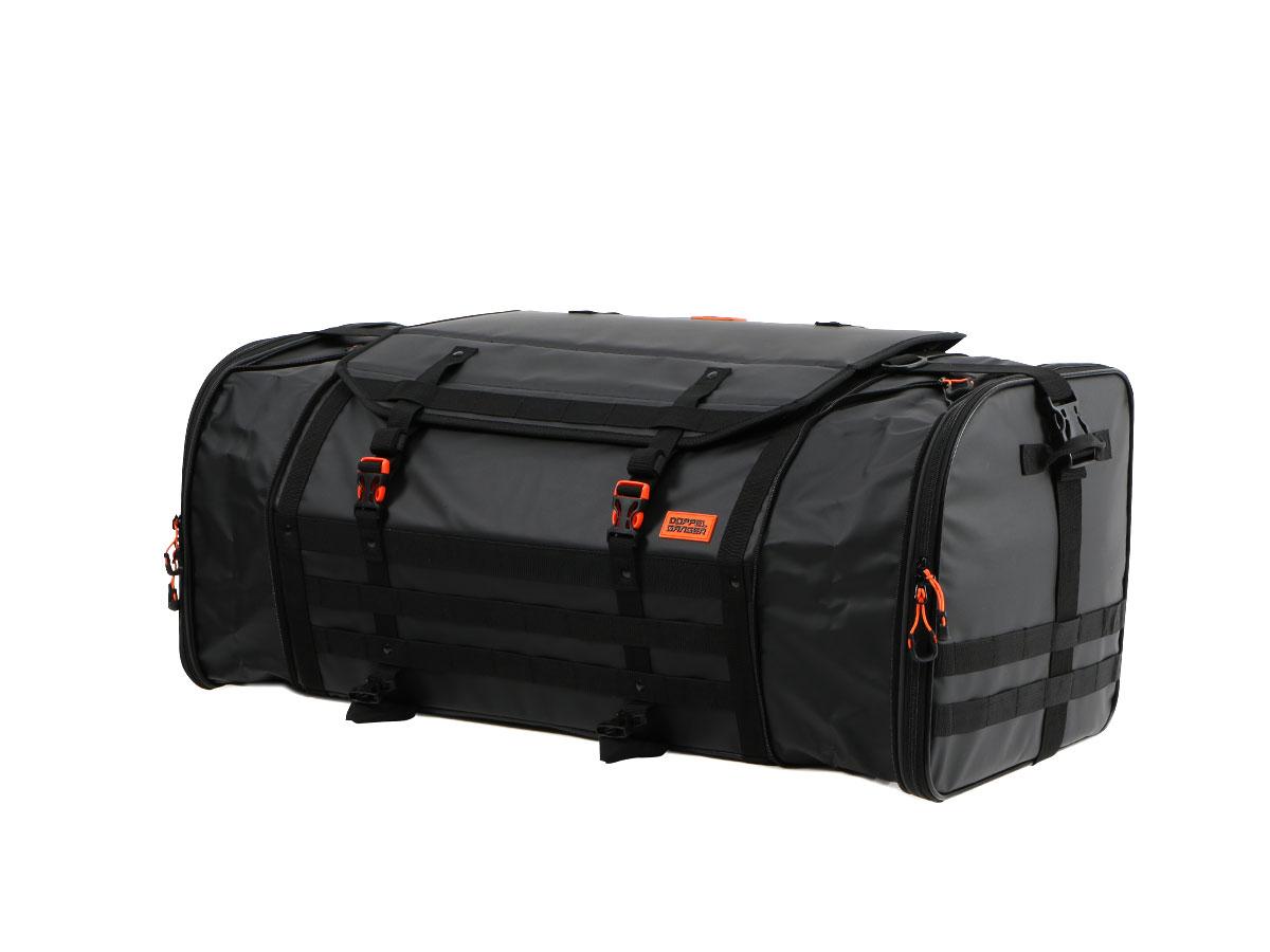 キャンプツーリングシートバッグ容量で変化できる多彩な積載スタイル。画像