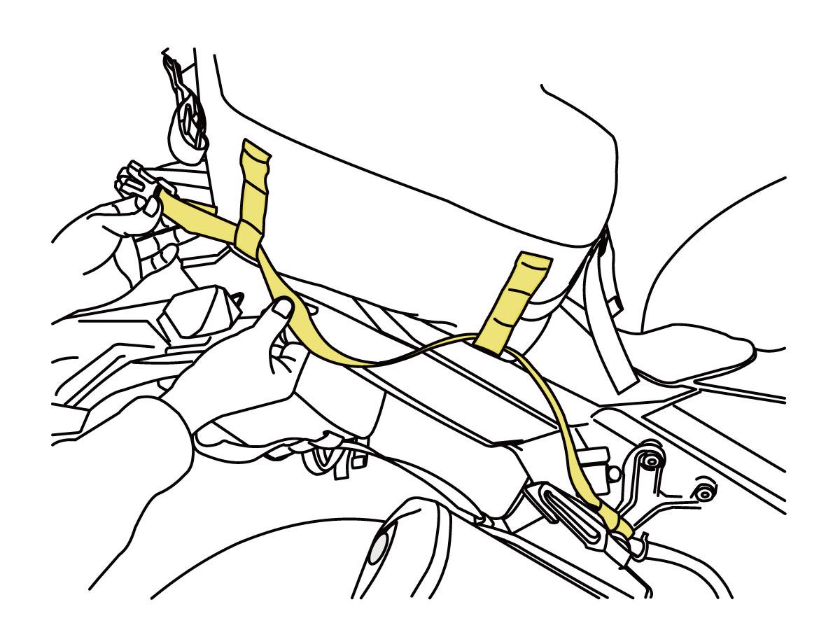 ターポリンサイドバッグ 25バッグの装着方法画像