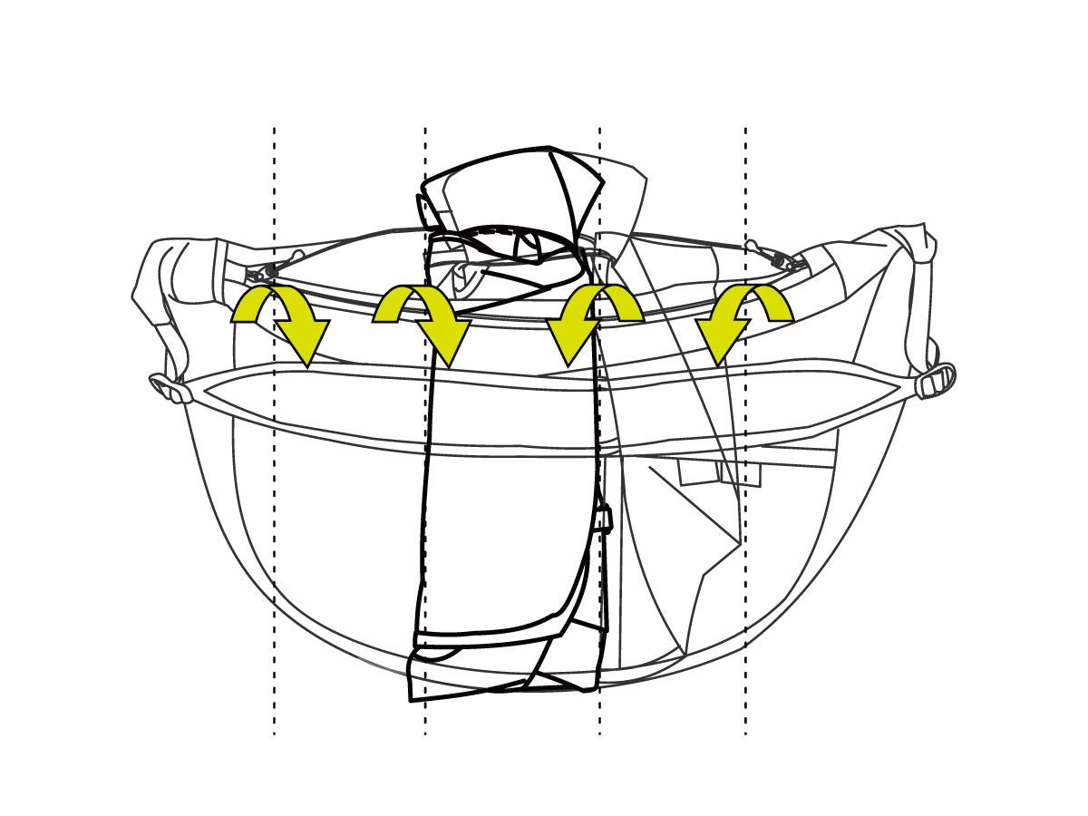 ULショルダーバッグバッグの折りたたみ方法画像